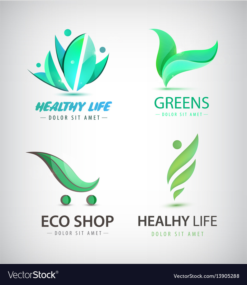 Set of eco organic food healthy lifestyle