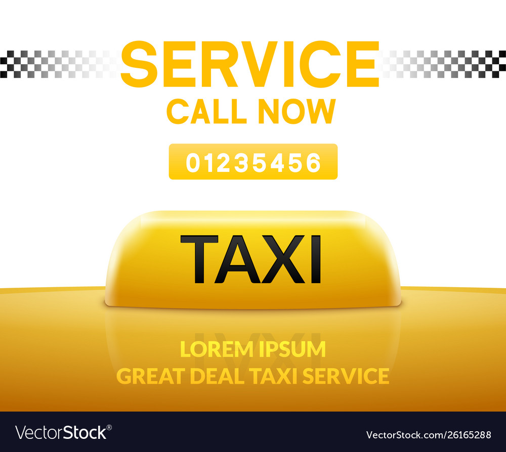 Taxi car service background sign taxi city