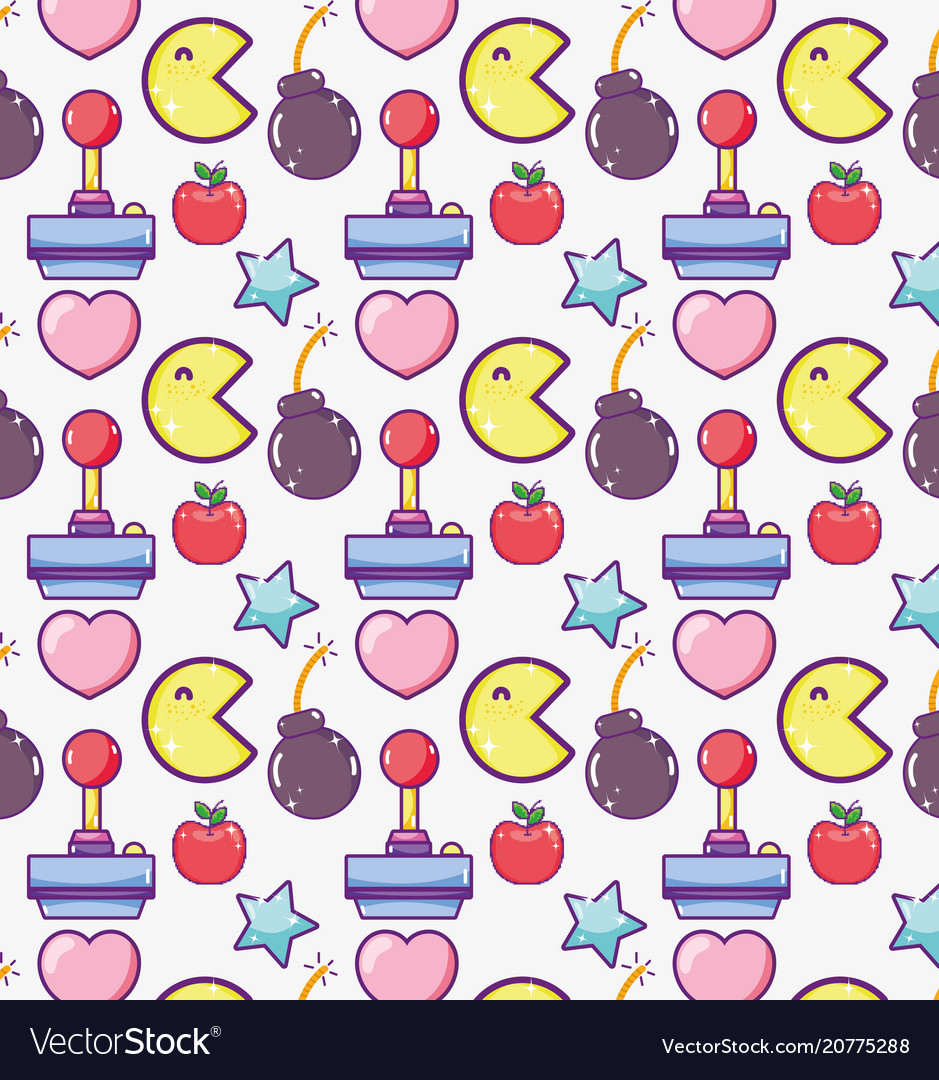 Videogame cartoons pattern background