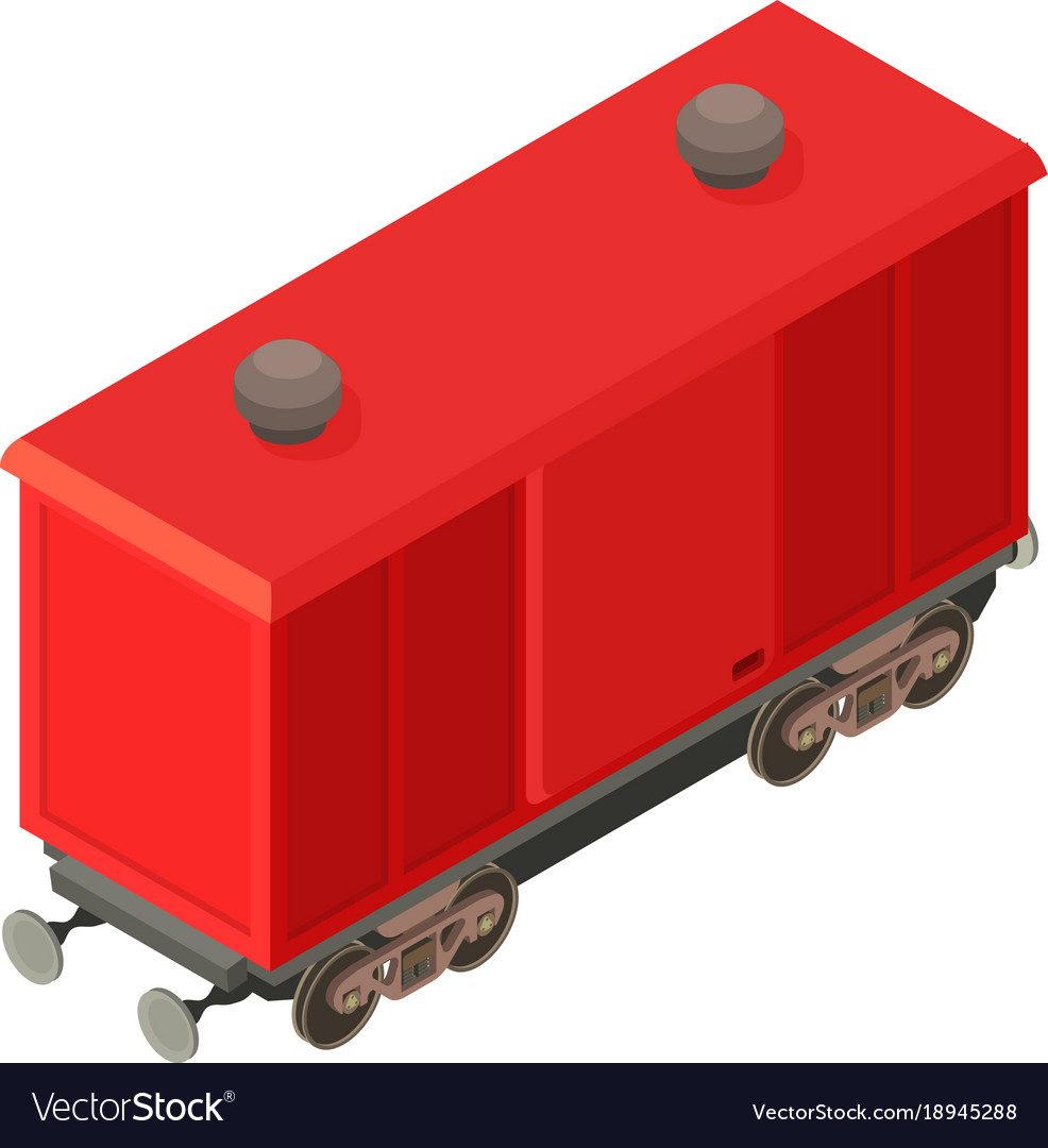 Wagon modern icon isometric 3d style