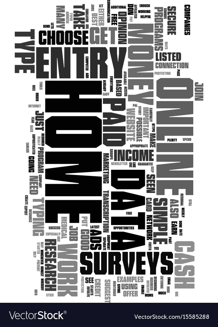 Work at home for money text word cloud concept