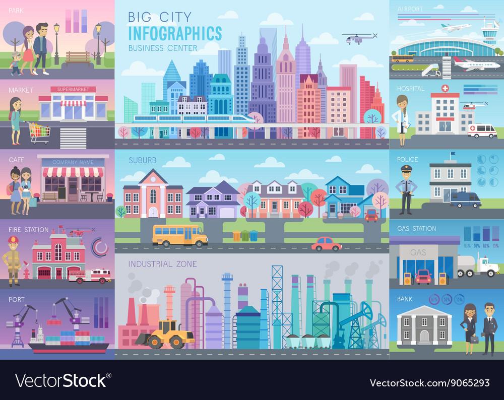 Big City Infographic set