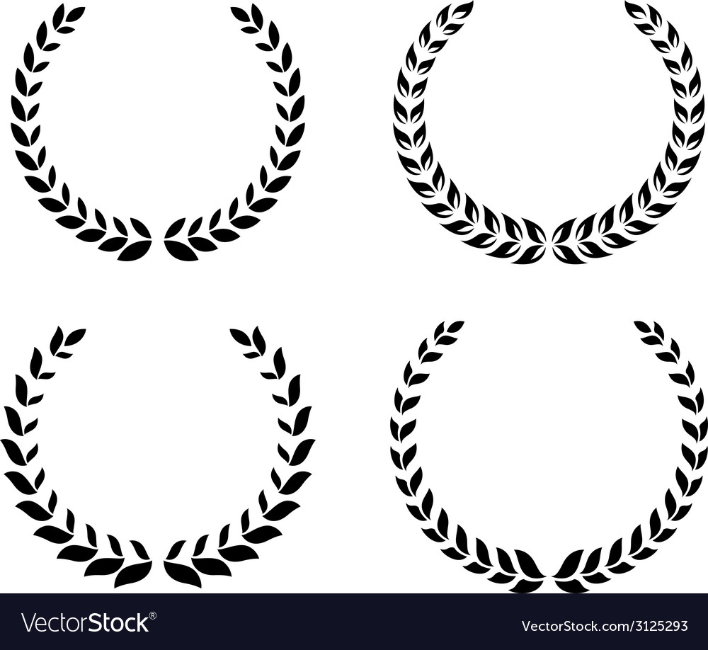 Black laurel wreaths set