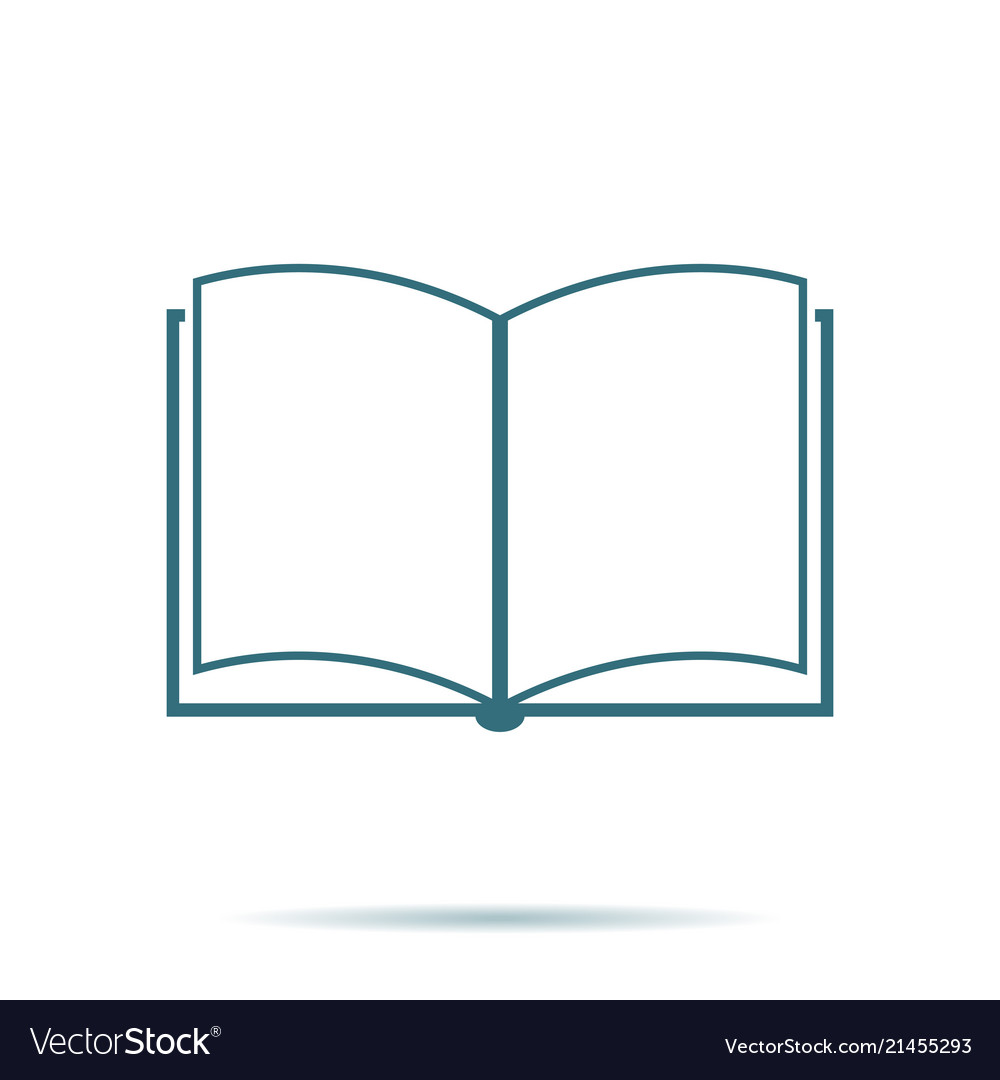 Blue open book icon isolated on background modern