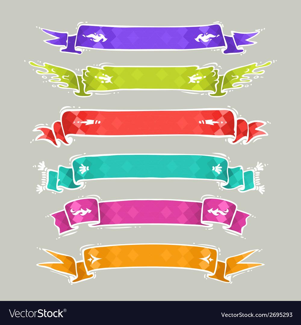 Cartoon Ribbons Set2