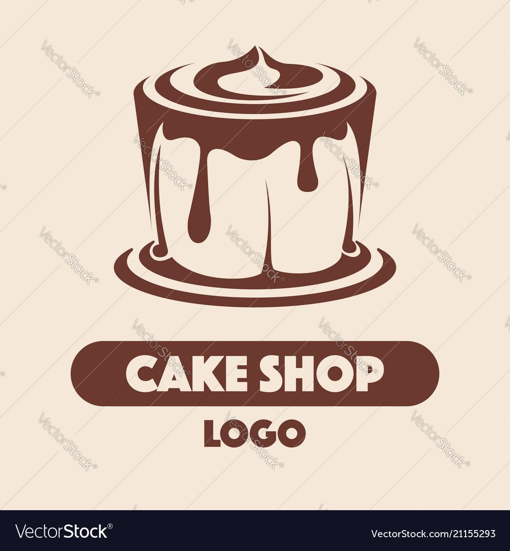 Logo Cake Shop Royalty Free Vector Image Vectorstock