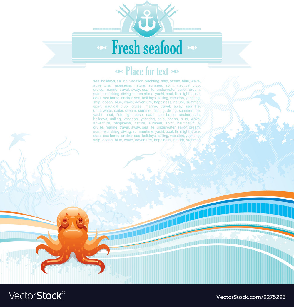 Sea travel background design for seafood