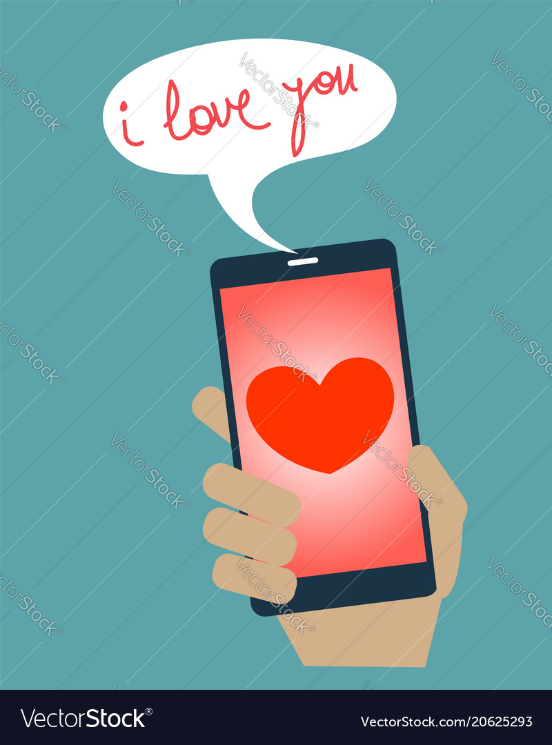 Sending a love message from mobile phone
