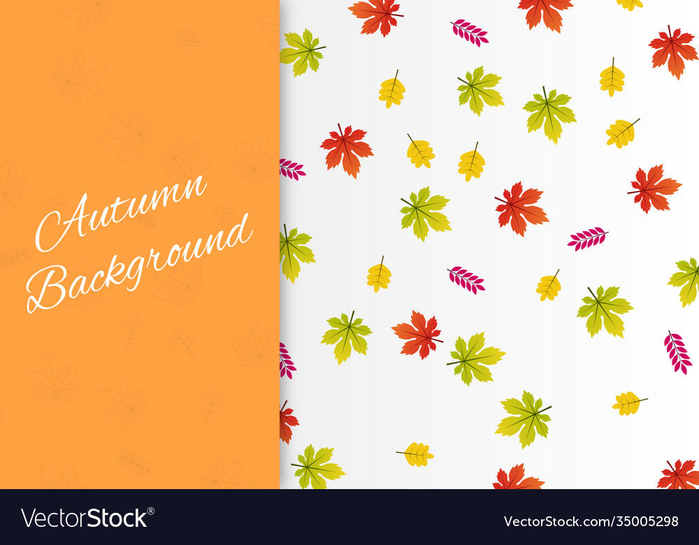 Autumn background with colorful leaves card design
