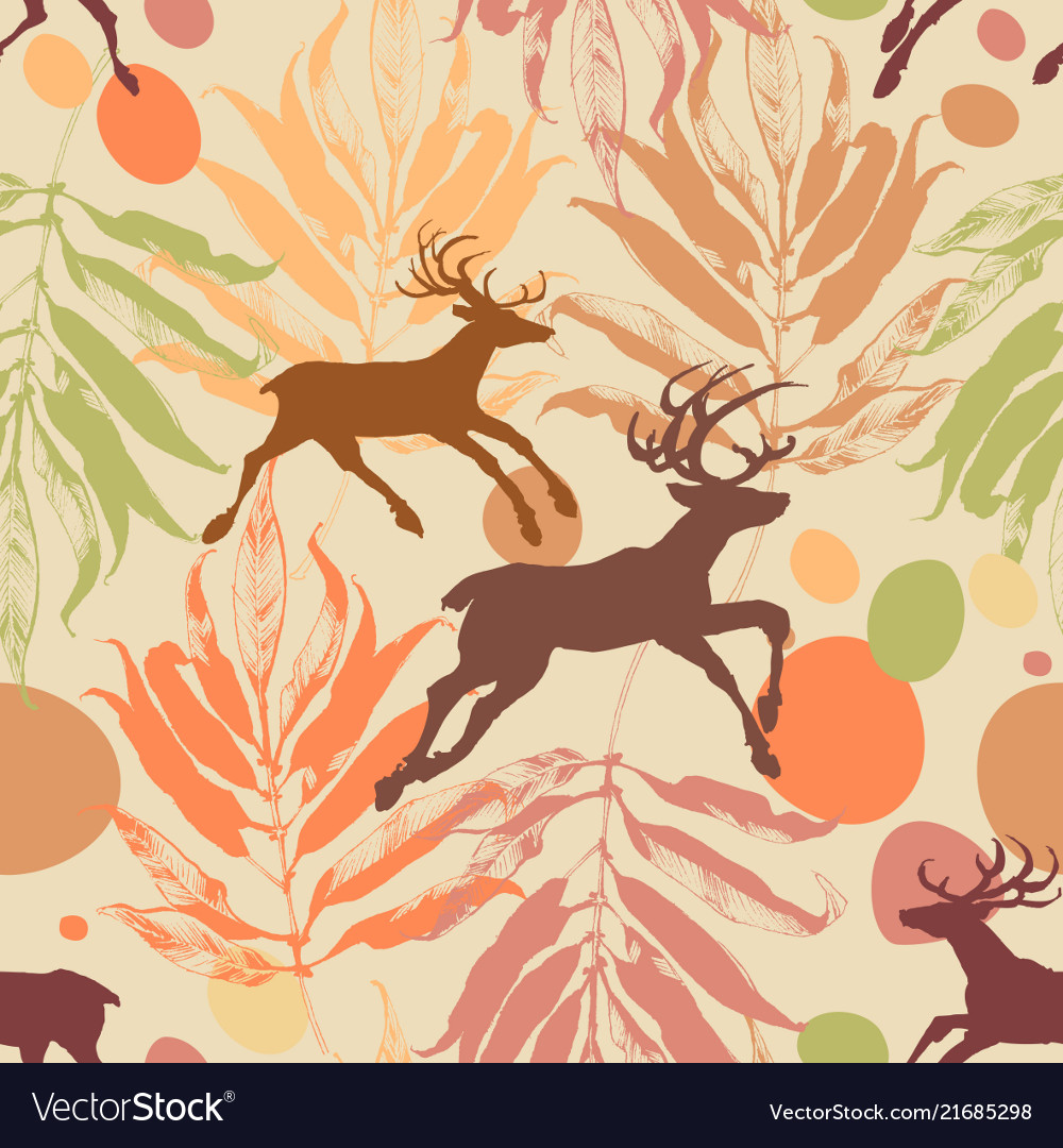 Autumn in the forest seamless pattern