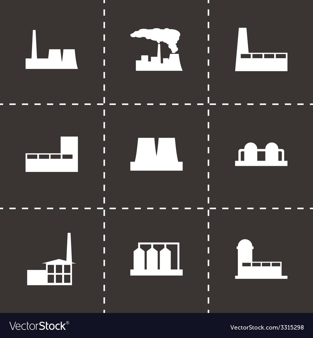 Black factory icon set