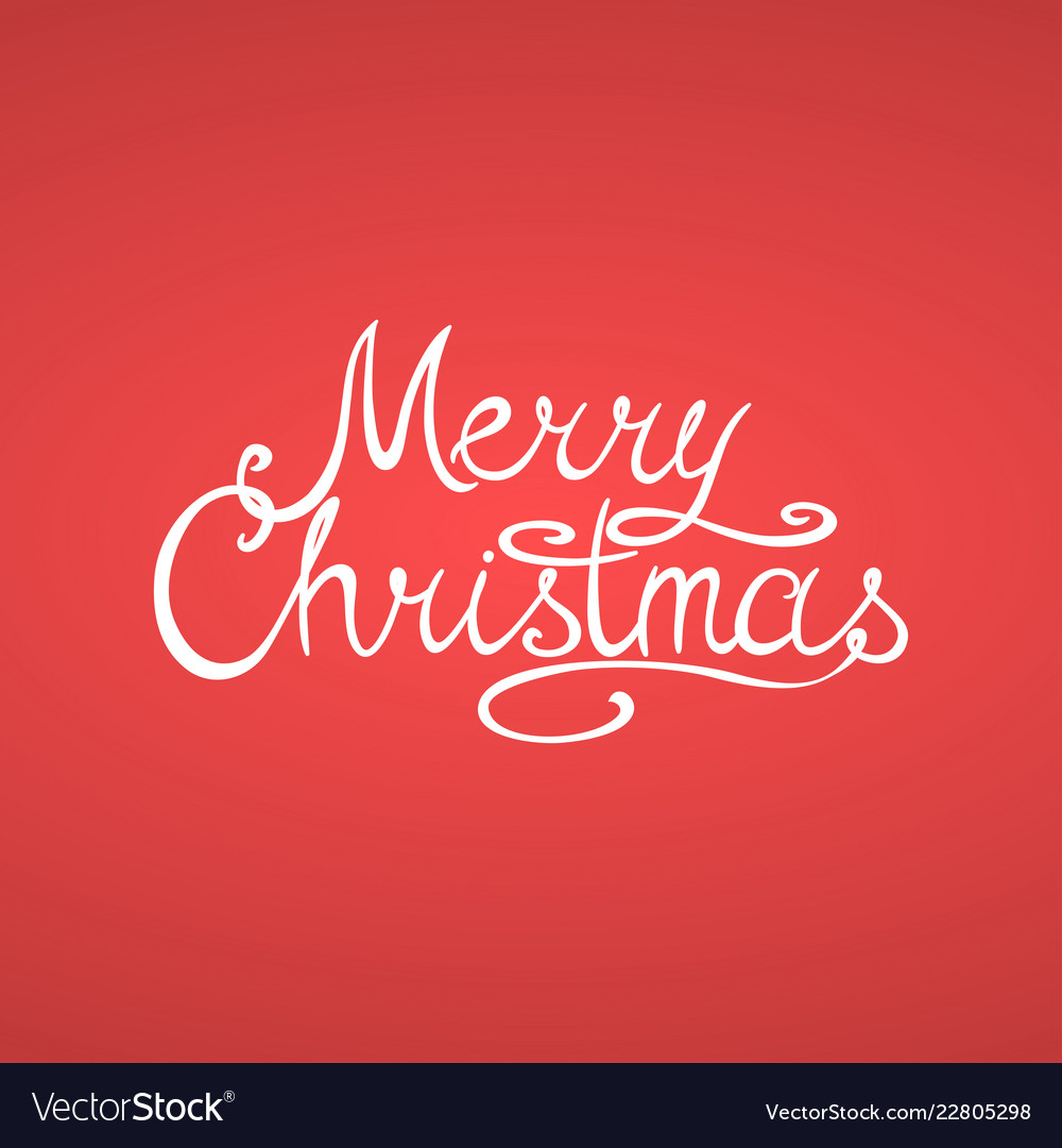 Merry christmas greeting card with