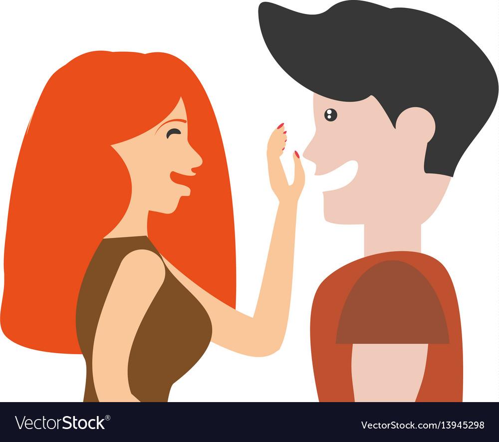 Portrait couple romantic lovely image