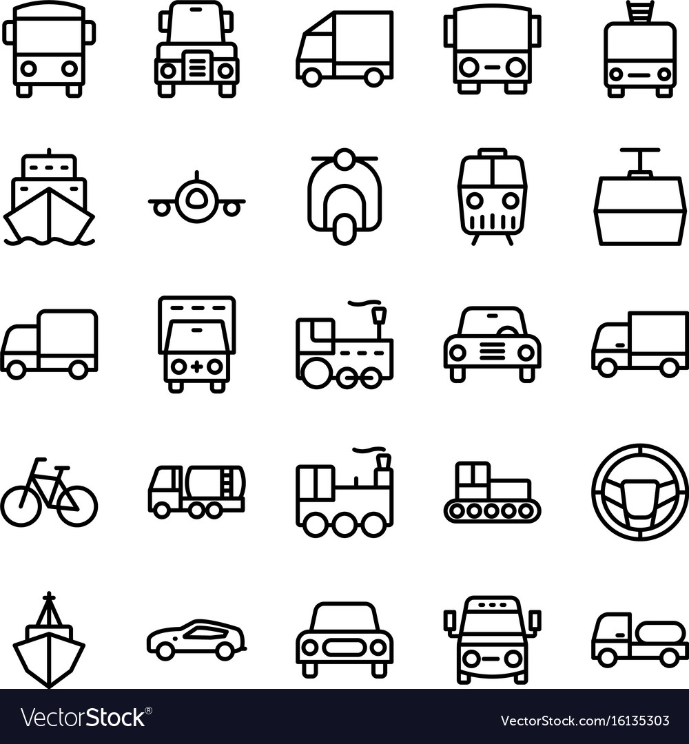 Automobile line icons 5