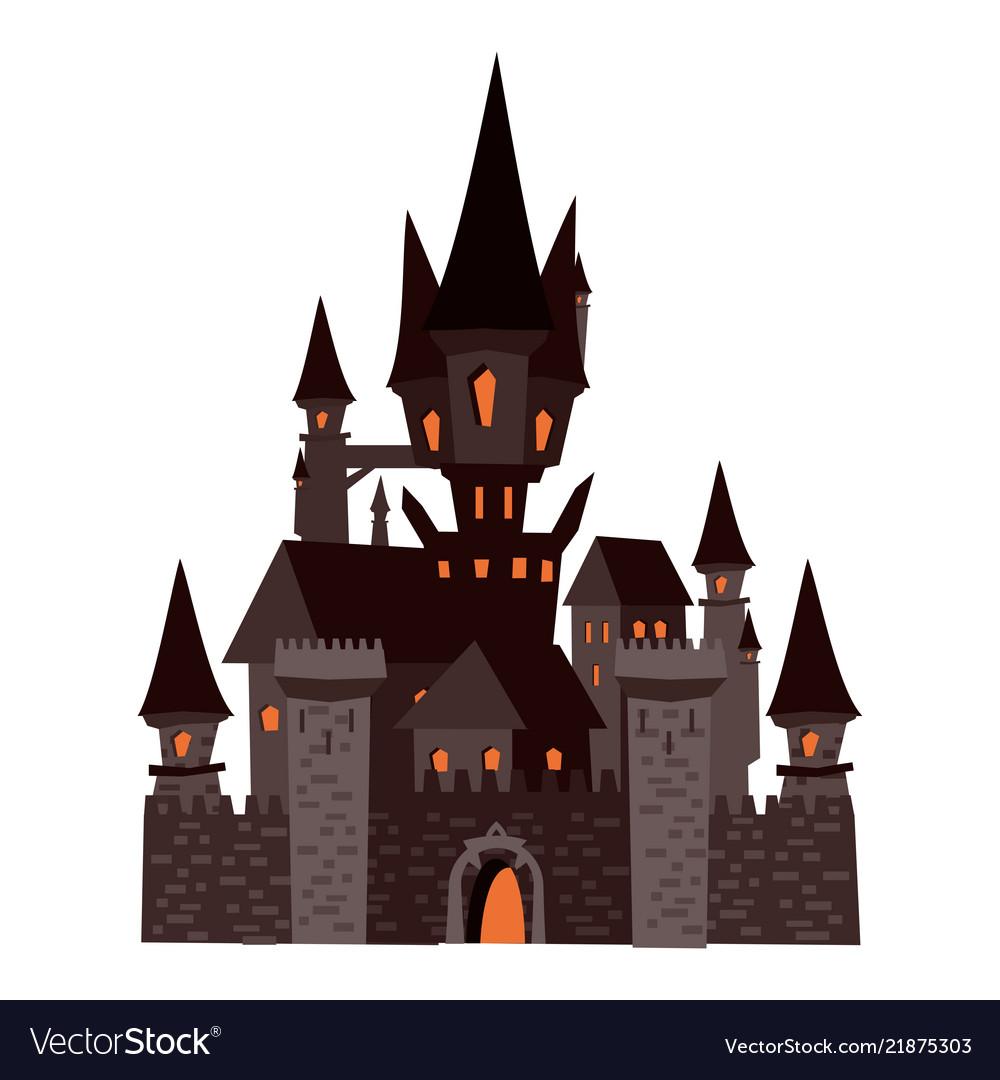 Black castle abandoned holiday halloween