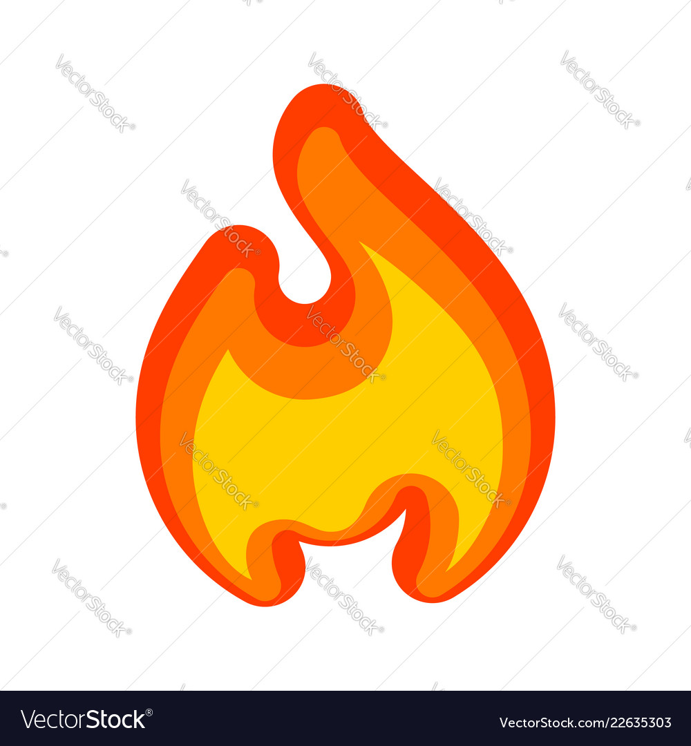 Fire flames red yellow art new icon