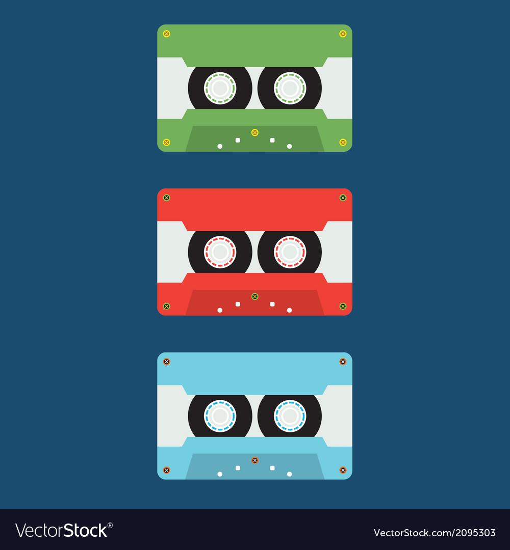 Flat Design Cassette Tape