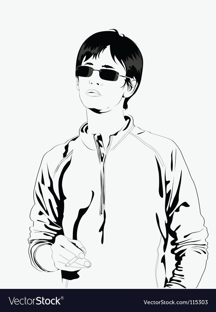 Male model vector image
