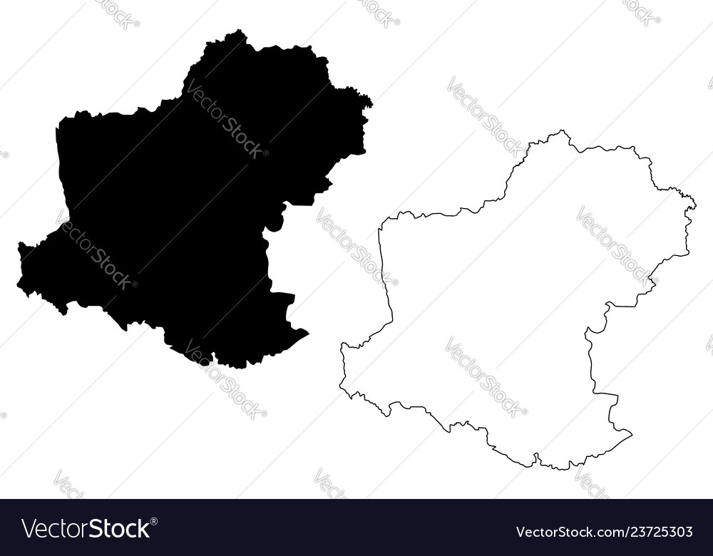 Nakhon Ratchasima Province Map Royalty Free Vector Image