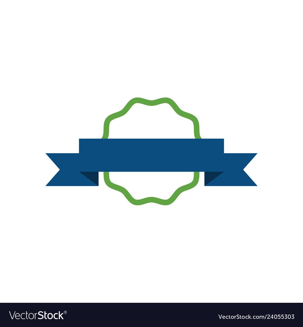 Ribbon badge icon design template