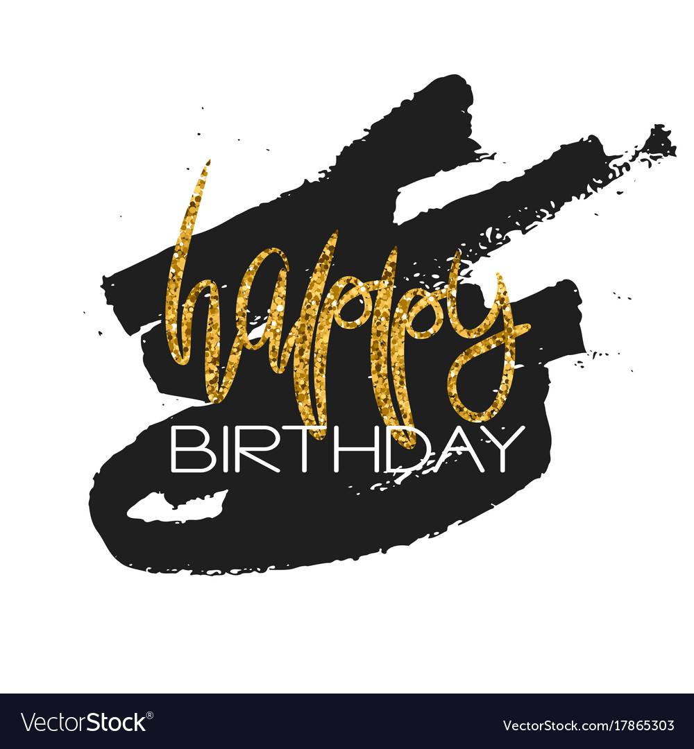 Stylish happy birthday card template