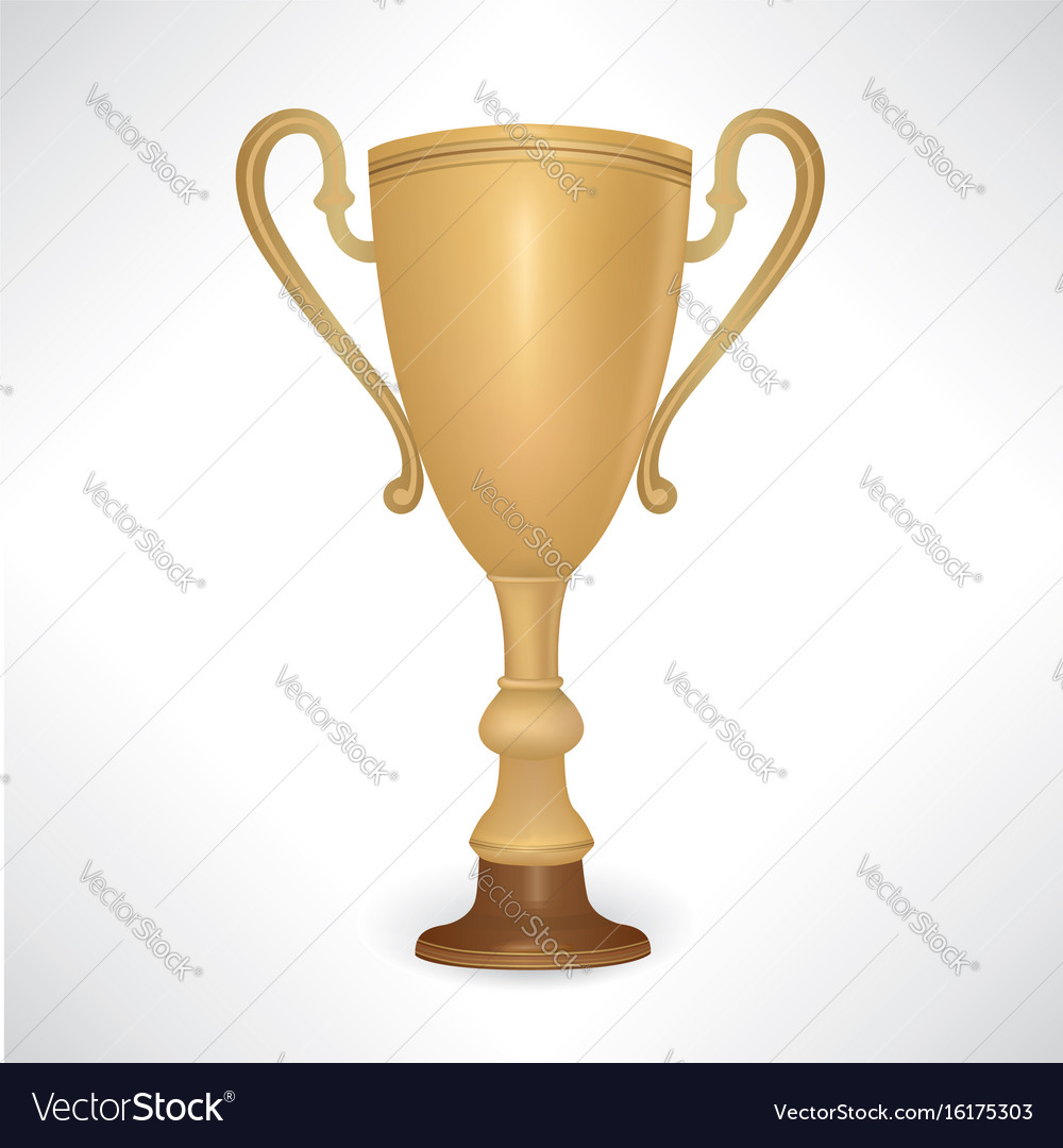 Winner cup vector image