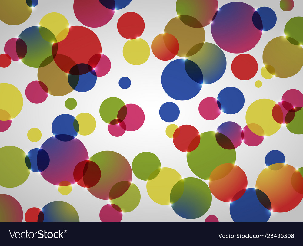Abstract background of colorful circle pattern