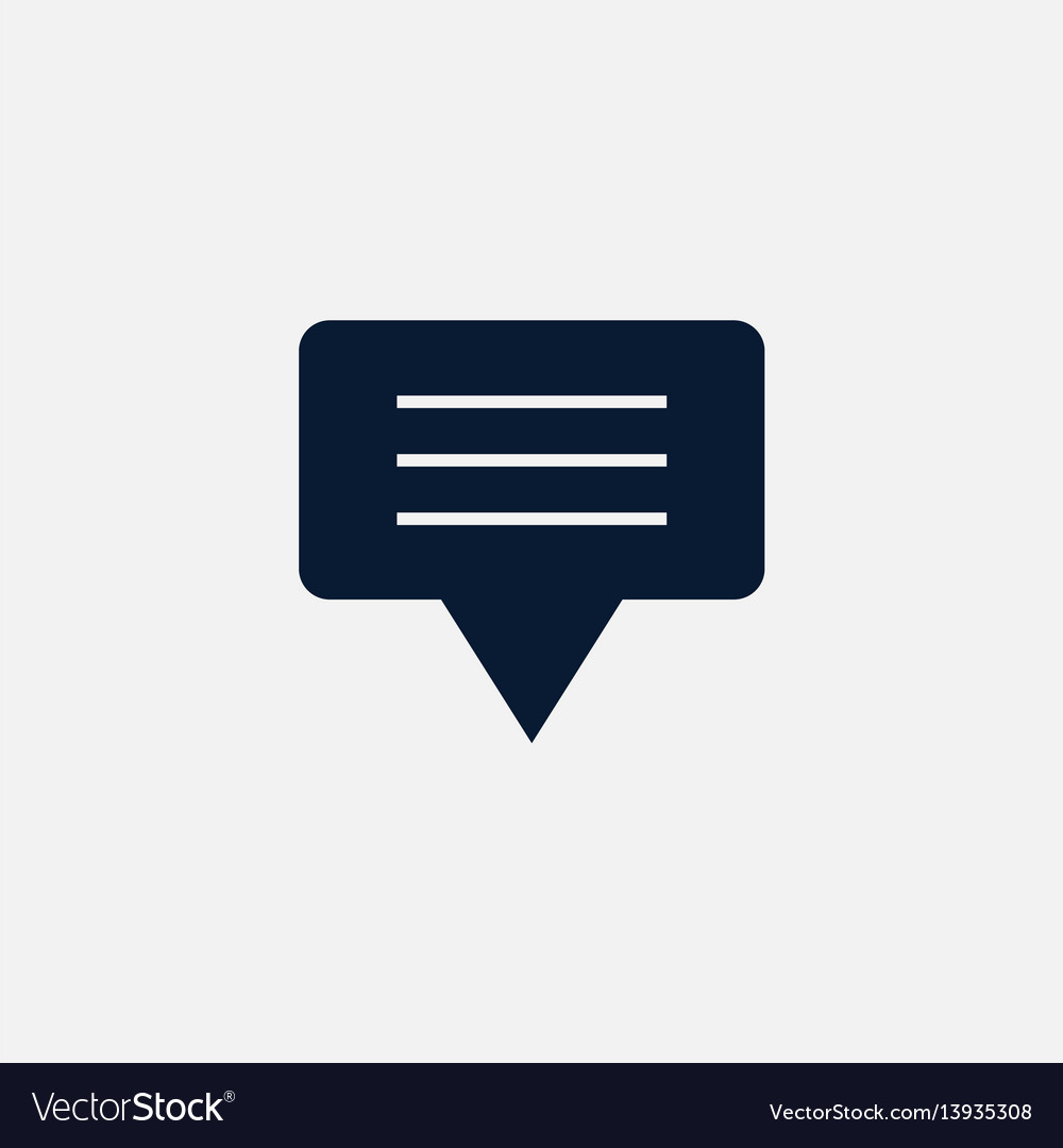 Chat icon simple vector image