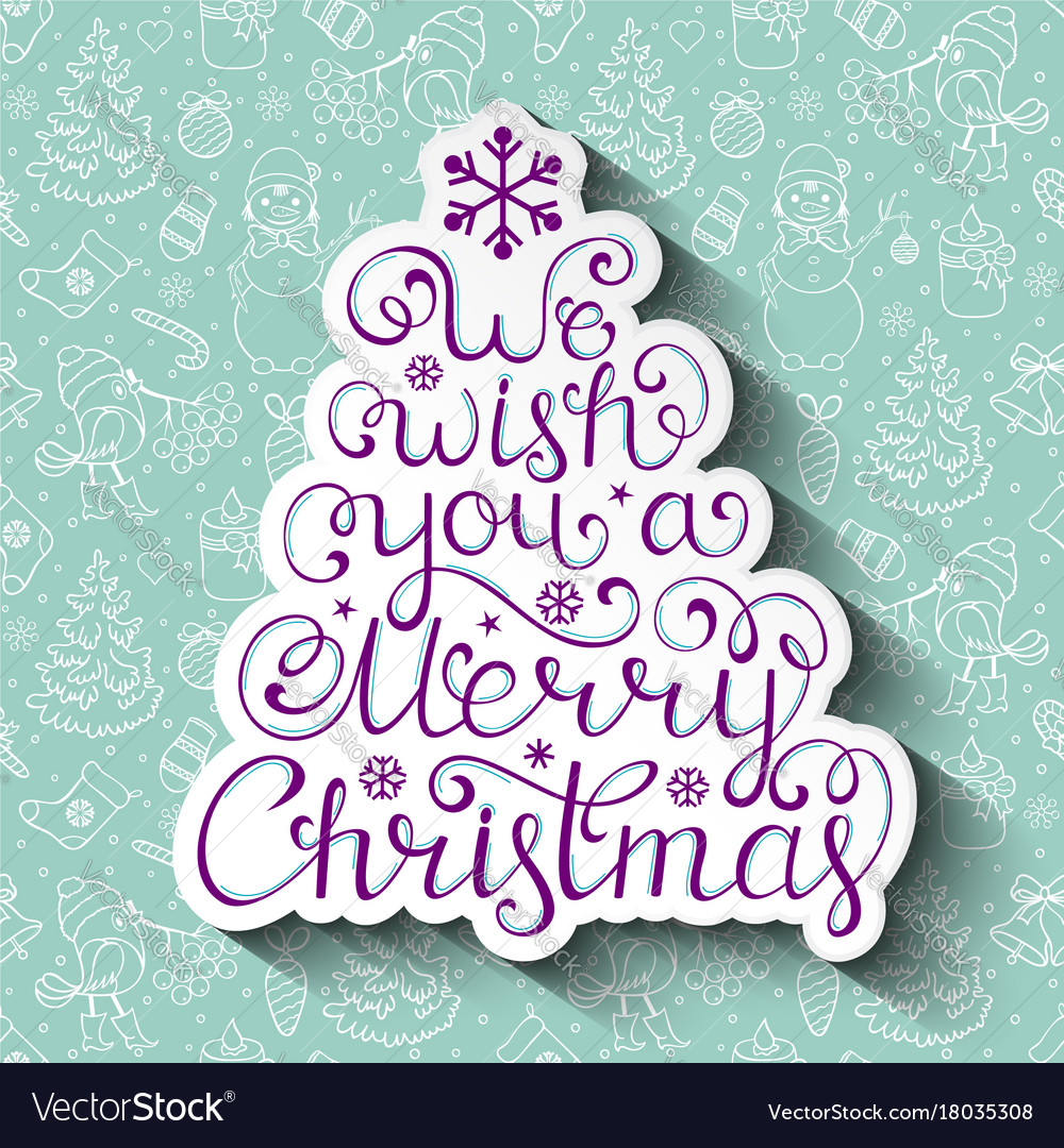 Christmas card with christmas wishes Royalty Free Vector