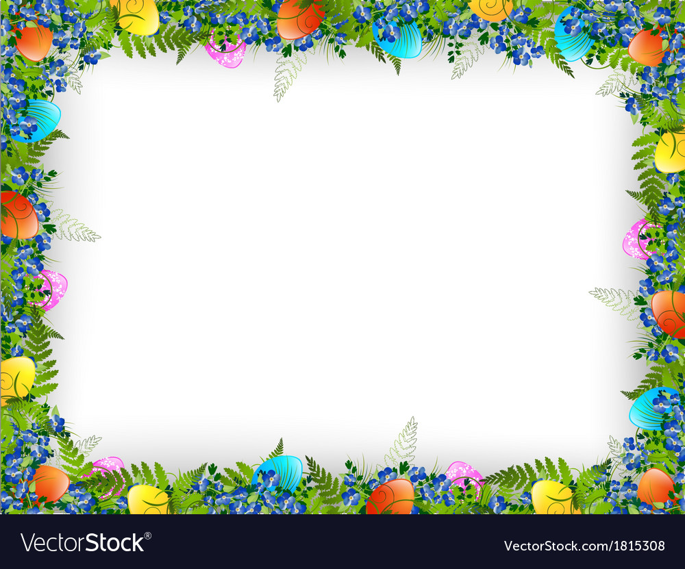 Easter Decorative Frame Royalty Free Vector Image
