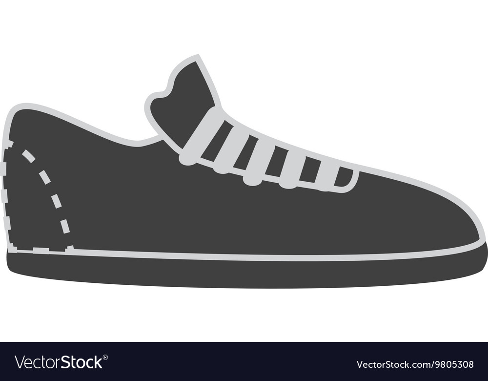 Footwear icon in black and white colors