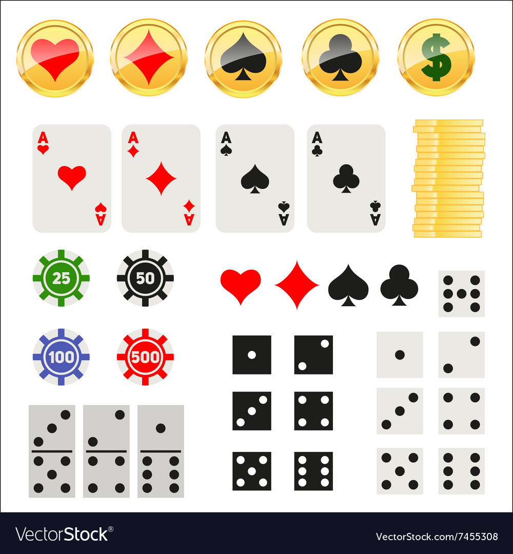 Gambling elements set