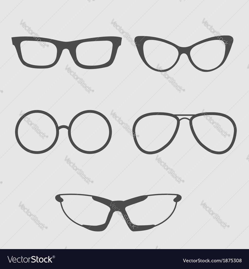Glasses set Isolated Icons