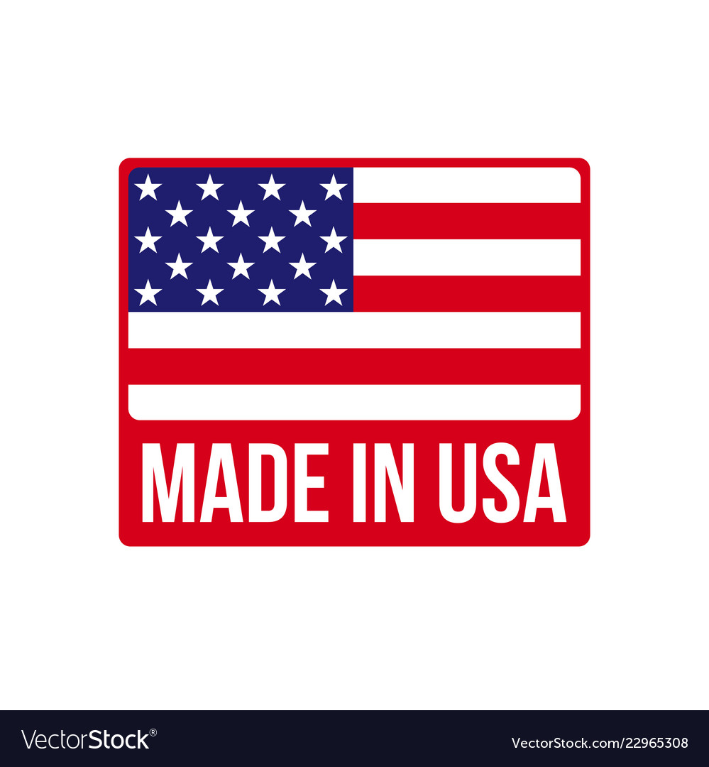 Made in usa icon on american flag