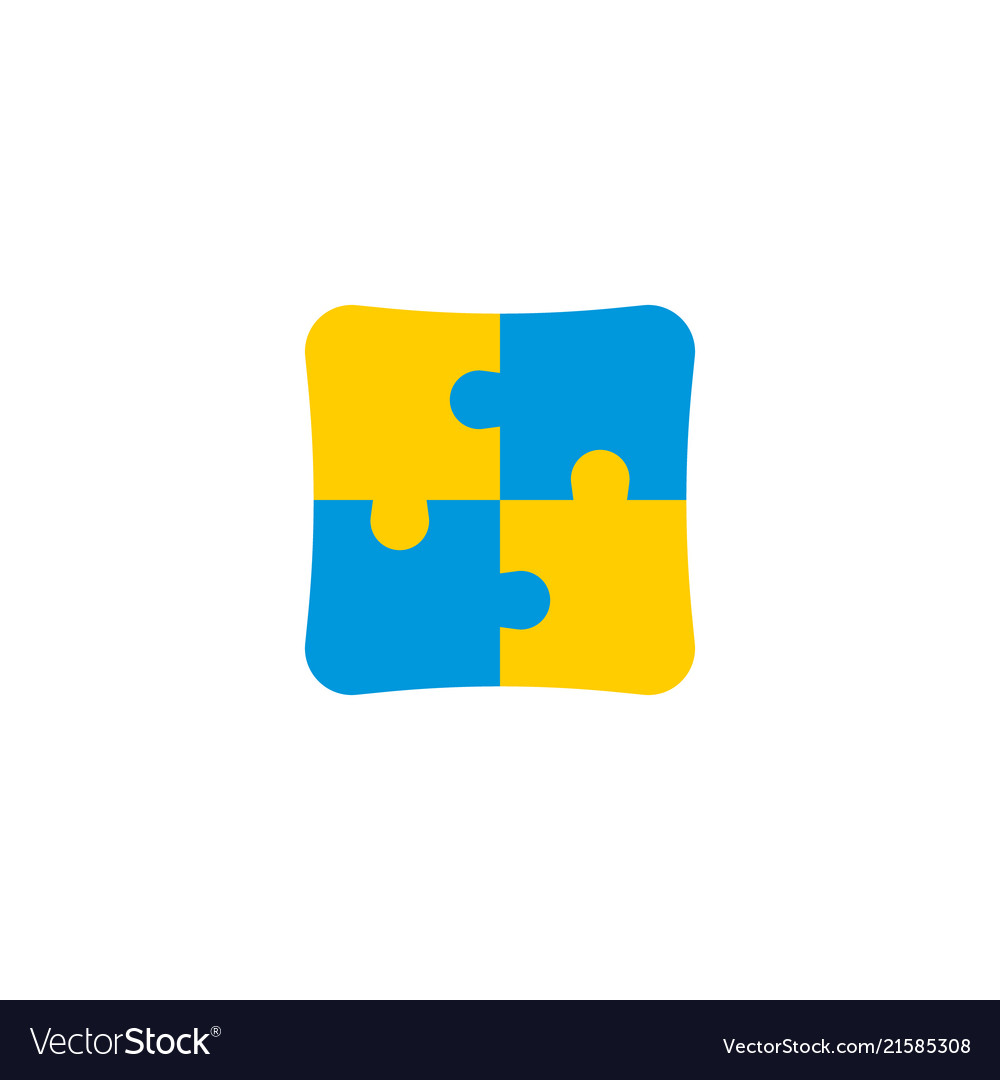 Puzzle icon flat element of