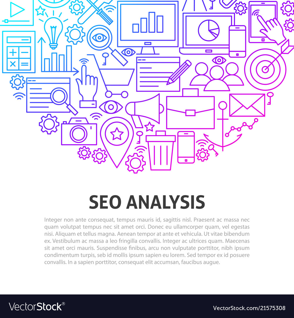 Seo analysis line concept