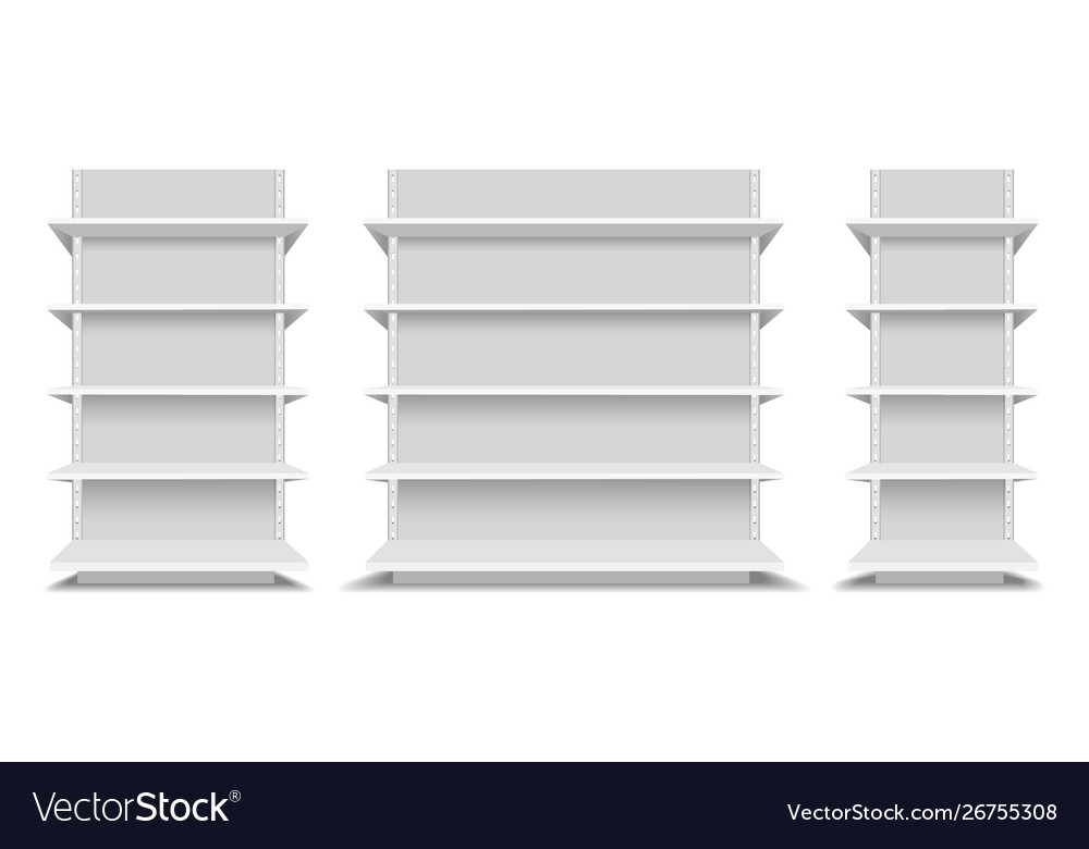 Supermarket shelfs mockup
