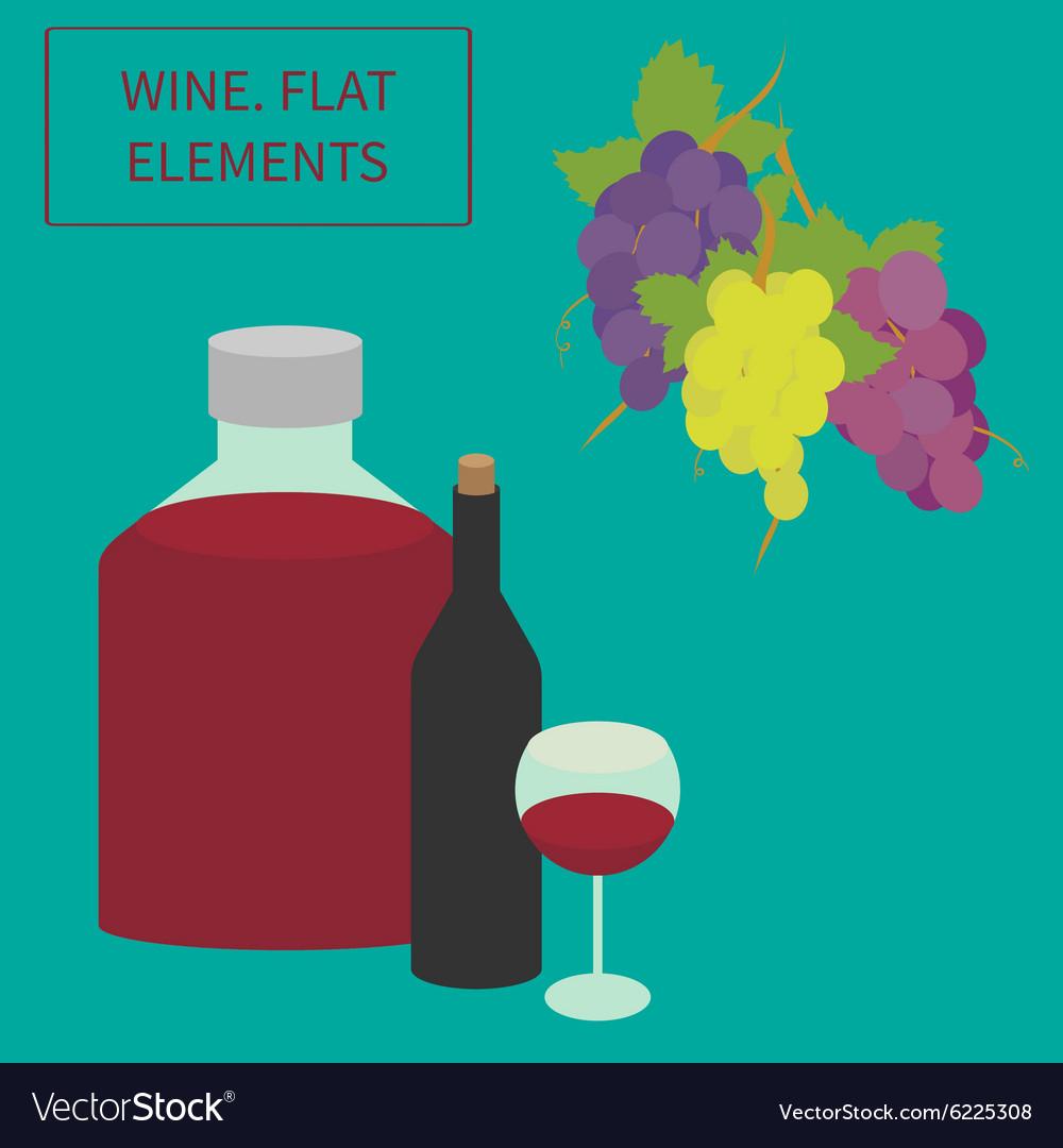Wine flat elements