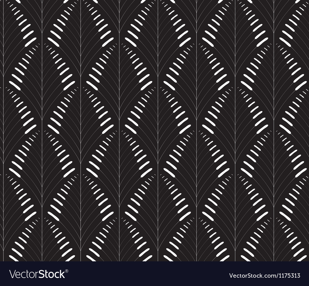 Abstract seamless pattern with a cane-like figure vector image