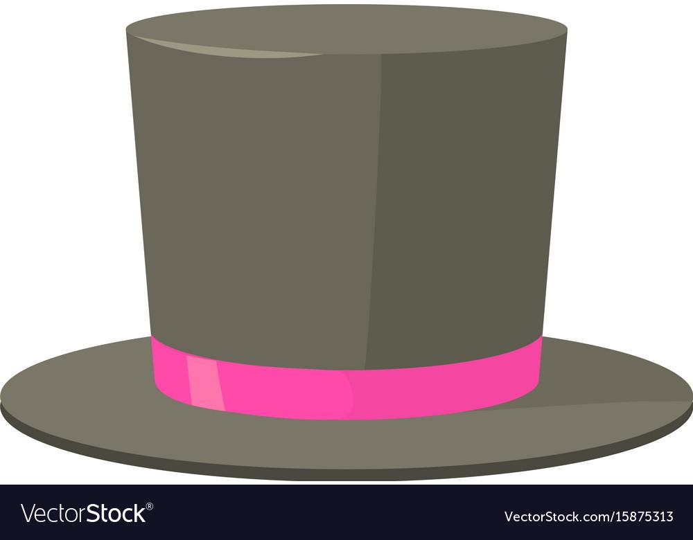 Bowler hat icon cartoon style