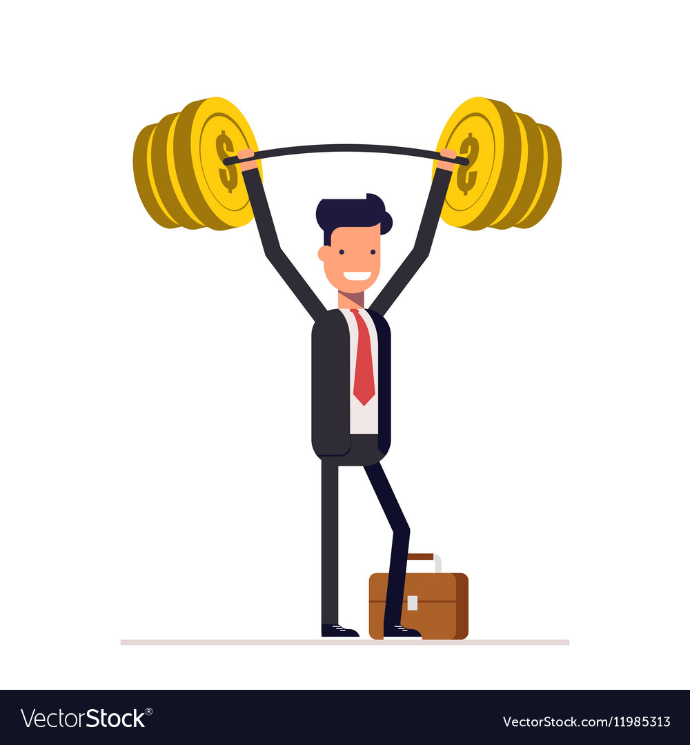 Businessman or manager are readily raised the bar vector image
