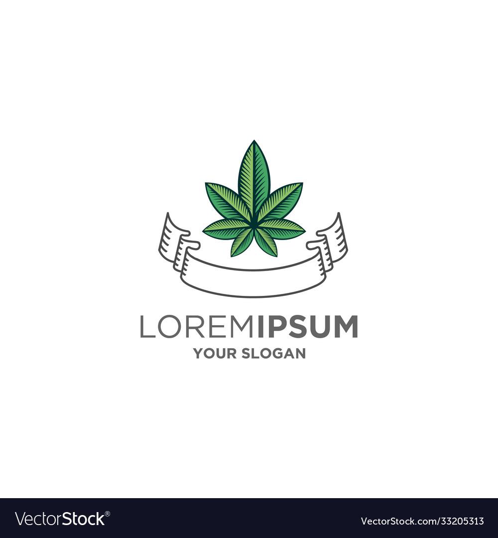 Cannabis emblem logo