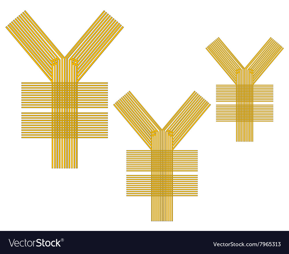 Chinese currency sign vector image