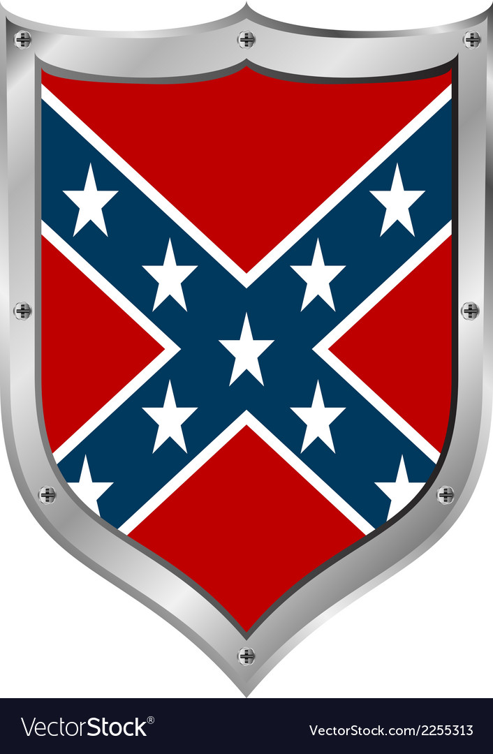 Confederate flag icon vector image