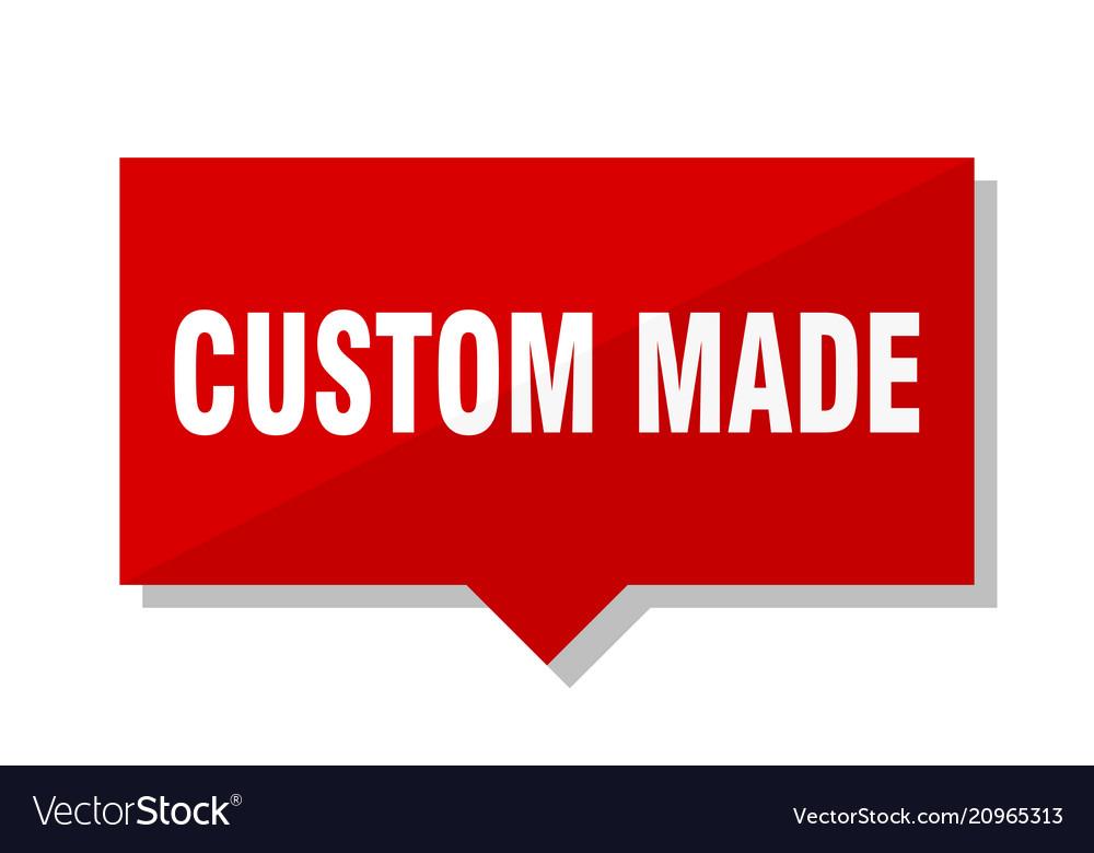 Custom made red tag