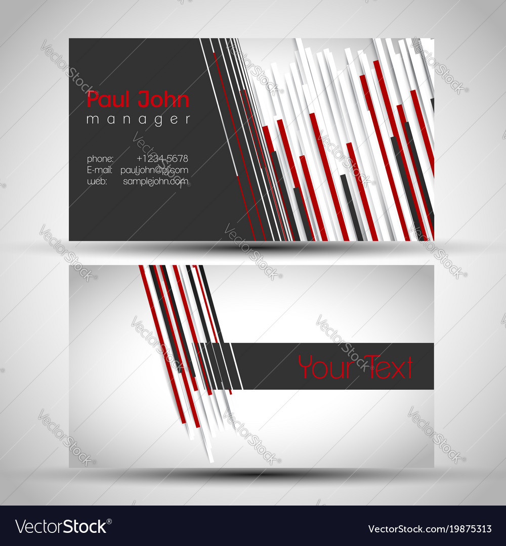 Elegant business card front and back side vector image colourmoves