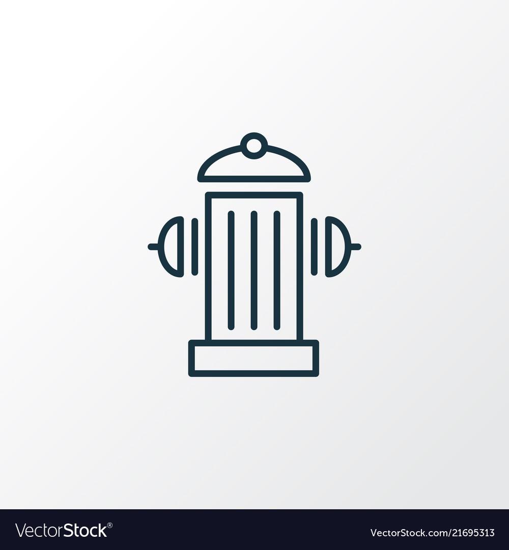 Fire Hydrant Icon Line Symbol Premium Quality Vector Image