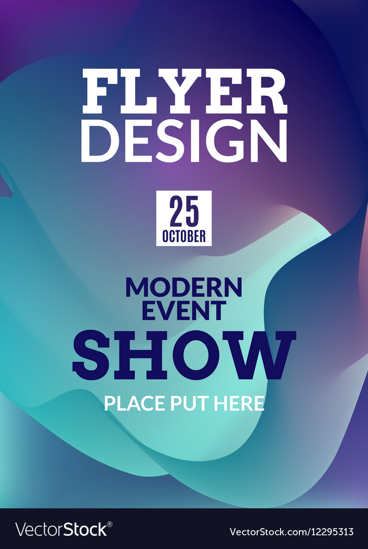 flyer music background poster event show design vector image