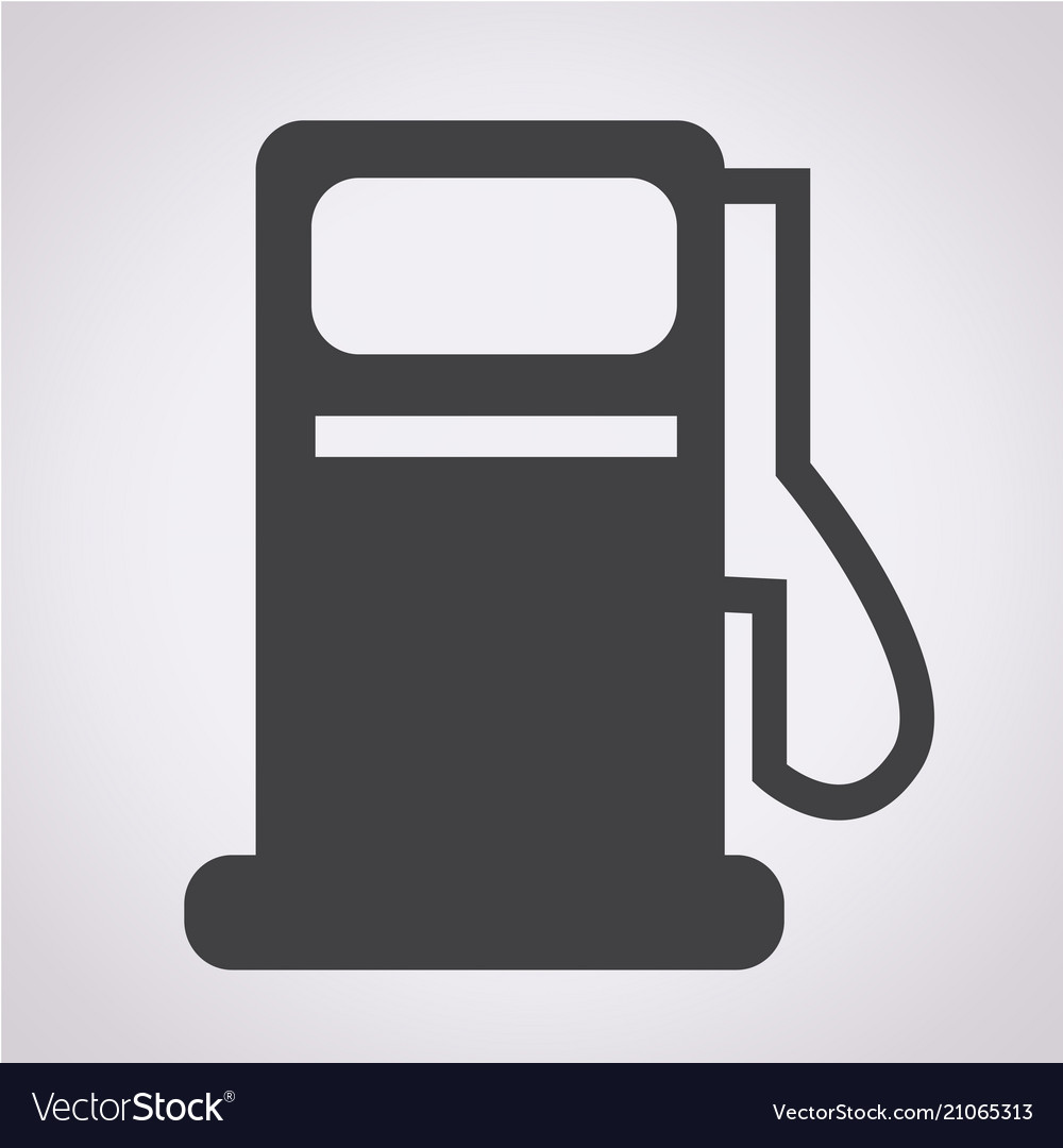 Gas pump icon oil station icon