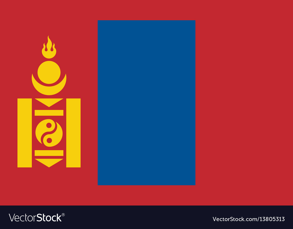 Mongolia flag for independence day and vector image